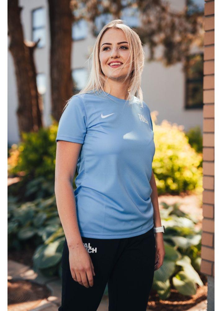 Nike light blue sports shirt for women