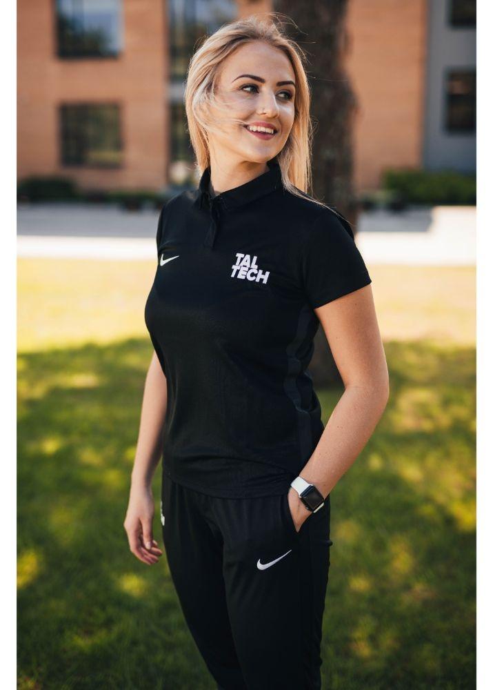Nike black polo shirt for women
