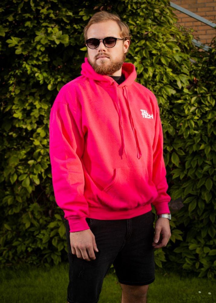 Unisex roosa pusa kapuutsiga