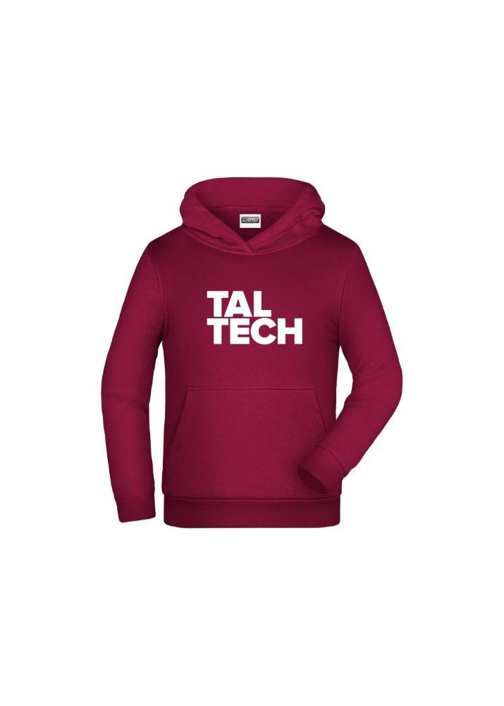 Burgundy hoodie for children