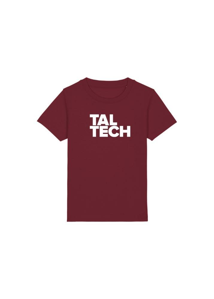 Burgundy T-shirt for children