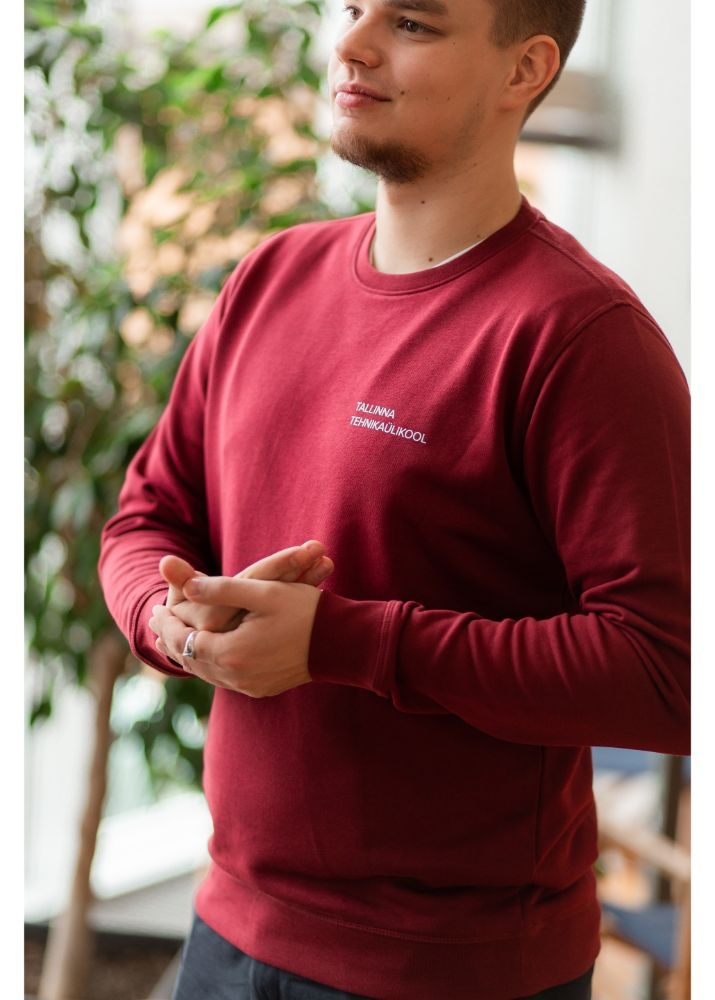 Unisex burgundy pullover