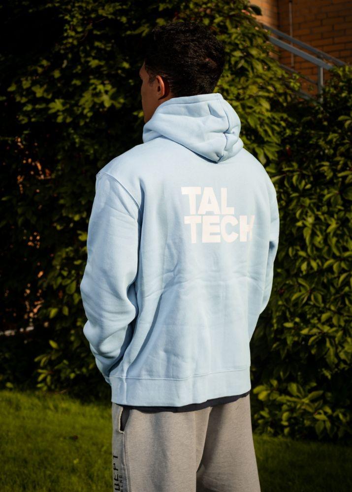 Light blue sweater with zipper for men