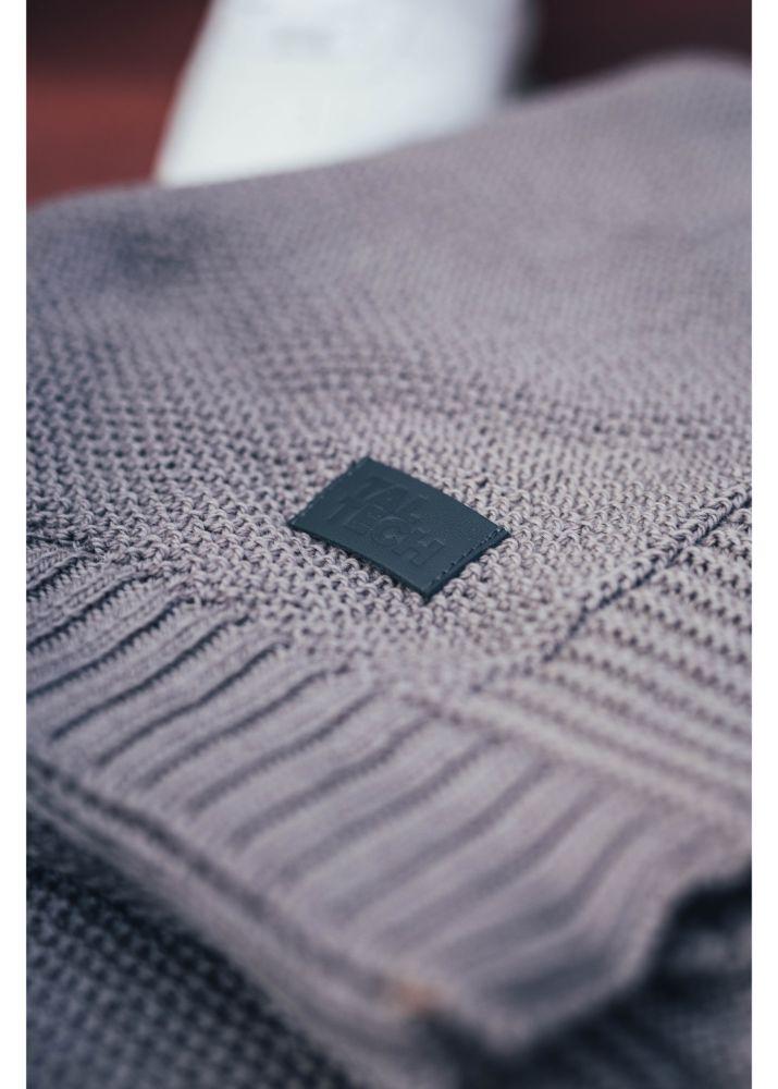 Woolish light grey blanket (pearly)