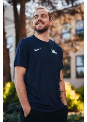 Nike dark blue sports shirt for men