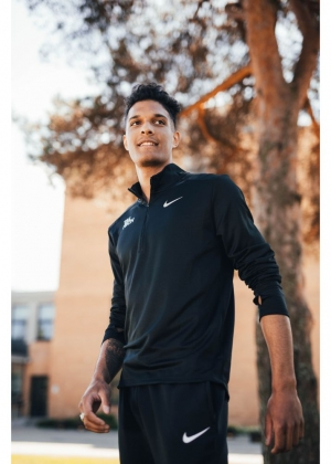 Nike black running shirt for men