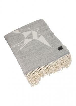 Woolish pleed pääsukestega valge