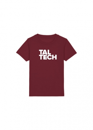 Burgundy T-shirt for children