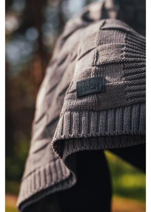Woolish pleed helehall (ruudu mustriga)